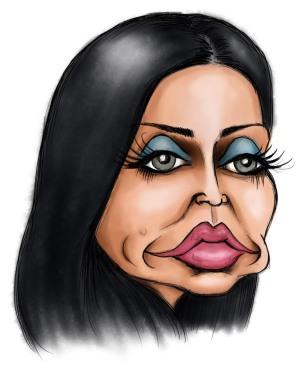 katie price jordan caricature
