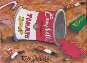 warhol campbell's soup spoof pop art dead