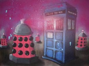 daleks graffiti cartoon