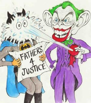 joker tony blair caricature cartoon batman fathers 4 justice