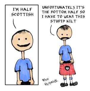 scotsman kilt cartoon scottish