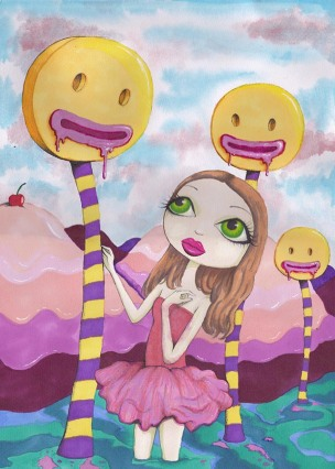 lollipop pop surrealism low brow art