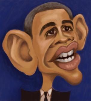 barrack obama caricature