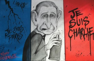 triptych painting prince charles street art graffiti french flag paris