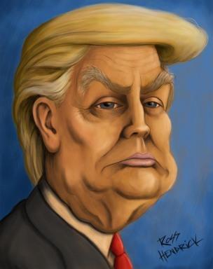 trump caricature cartoon